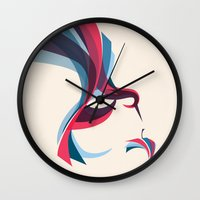 hummingbird Wall Clocks featuring Hummingbird by Jay Fleck