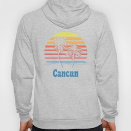 Cancun Mexico Sunset Palm Trees Hoody