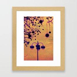 Disco Lamp Framed Art Print