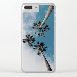 Palm Tree Summer Fun Clear iPhone Case