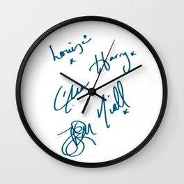 One Direction Signature  Wall Clock