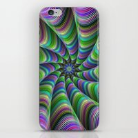 striped iPhone & iPod Skins featuring Striped tentacles by David Zydd