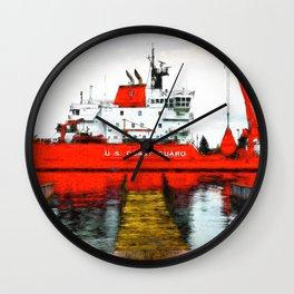 Coast Guard Cutter Mackinaw Wall Clock