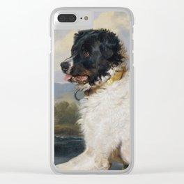 Edwin Landseer- Lion A Newfoundland Dog Clear iPhone Case