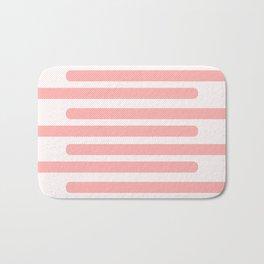 Pink Stripes With Spots Bath Mat