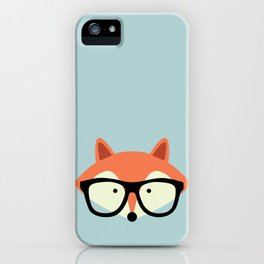 Hipster Red Fox iPhone Case