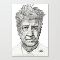 lynch Canvas Prints featuring David Lynch by Paul Nelson-Esch Art