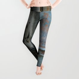 Rusty metal gate Leggings