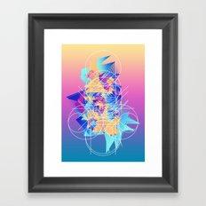Burger Lines Framed Art Print