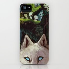 Wolf Princess in the Forest iPhone Case