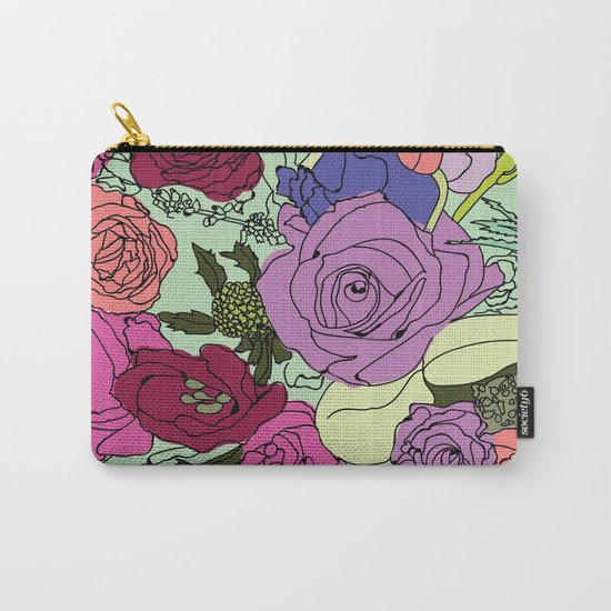 Flowers Bouquet Carry-All Pouch
