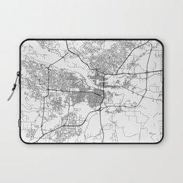 Minimal City Maps - Map Of Little Rock, Arkansas. Laptop Sleeve