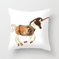 Steampunk Unicorn Throw Pillow