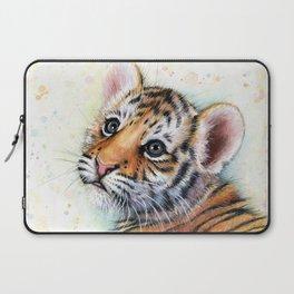 Nursery-Artwork-Tiger-Cub-Baby-Animal-Watercolor-Jungle-Safari-Animals Laptop Sleeve