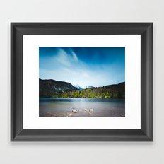 Lake Bohinj with Alps in Slovenia Framed Art Print