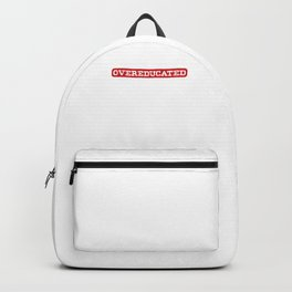 Nerds Geeks Genius Intelligent Dangerously Over-Educated Funny Hilarious School Gift Backpack