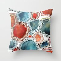 agate Throw Pillows featuring AGATE by Kelsey Eckstrom