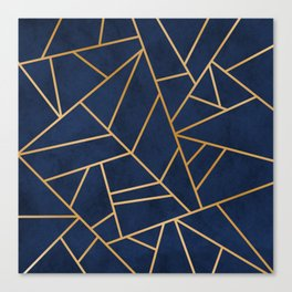 Art Deco Blue Canvas Print