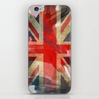 union jack iPhone & iPod Skins featuring Union Jack by Honeydripp Designs