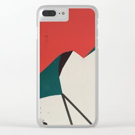 Warm Sky Camp Under Cool Cliffs Clear iPhone Case