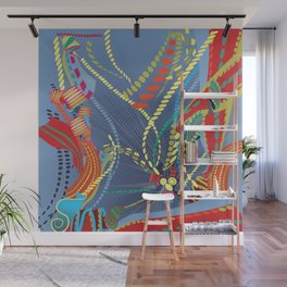Abstract Stripes Wall Mural