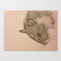 hamster Canvas Prints featuring Hamster! by Chanicecollette
