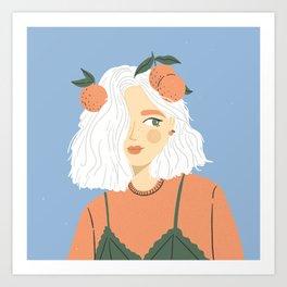 Clementine Girl Art Print