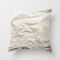 Crumpled Paper Throw Pillow