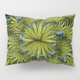 """El Bosco fantasy, tropical island blue butterflies"" Pillow Sham"