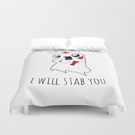 Halloween Costume I Will Stab You Nurse Gift Duvet Cover