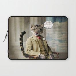 Sir Sebastian Snow Leopard Laptop Sleeve