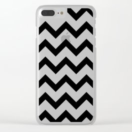 Simple Black and white Chevron pattern Clear iPhone Case
