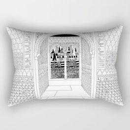 Alhambra Interior, Granada, Spain Rectangular Pillow