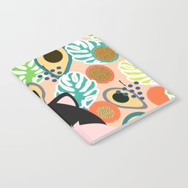 Fox, leaves and tropical fruits Notebook