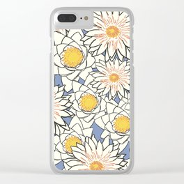 Flowers Pattern Lotus Clear iPhone Case