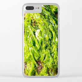 green Sea weed Clear iPhone Case