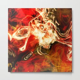 Red smoke background Metal Print