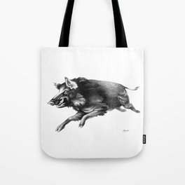 Running Boar Tote Bag