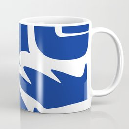 Blue shapes on white background Coffee Mug