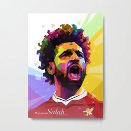 Mohamed Salah WPAP #2 Metal Print