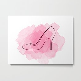 Pink Shoe Metal Print