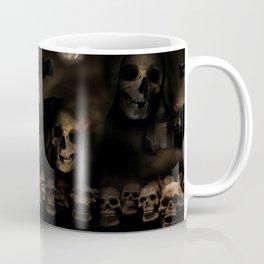 Gothic Halloween Skulls at Cemetery Coffee Mug