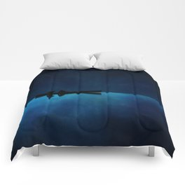 Canoe at Night Comforters