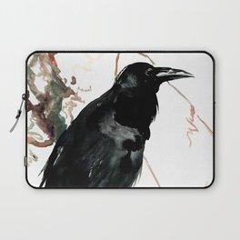 raven, raven crow artwork black brown Laptop Sleeve
