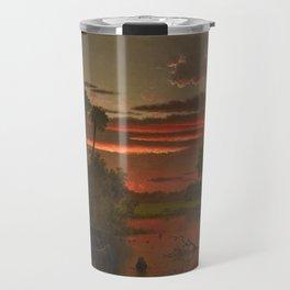 The Great Florida Sunset by Martin Johnson Heade Travel Mug