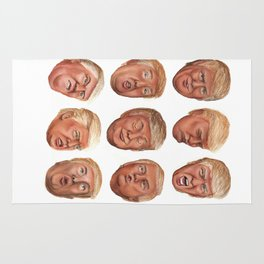 Faces Of Donald Trump Rug