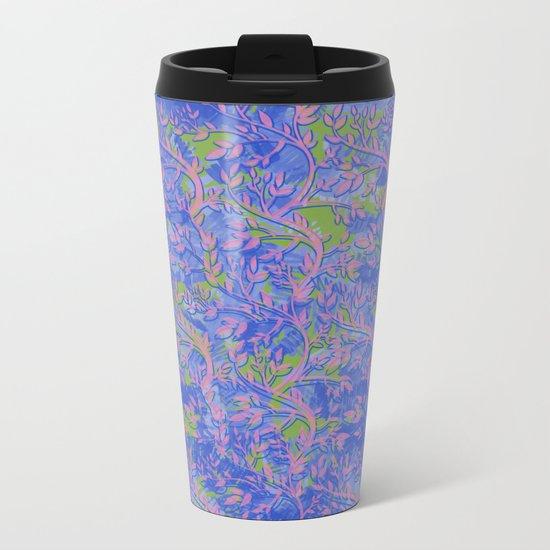 Shoots, Stems and Leaves abstract Metal Travel Mug