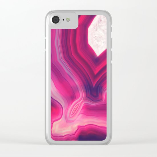 Luxury Agate Clear iPhone Case