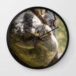 Mama and Baby Koala Bear Wall Clock