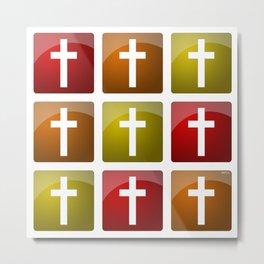 Colorful Christian Crosses Metal Print